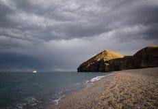 Cabo de gata beach of the dead stock photo