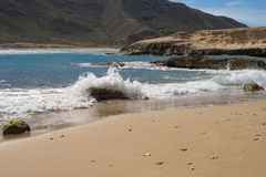 Cabo de Gata beach, landscape Royalty Free Stock Photos
