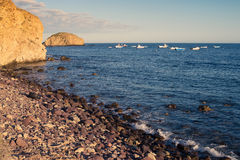 Cabo de Gata beach Royalty Free Stock Photo