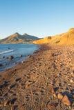 Cabo de Gata beach at sunrise stock photography