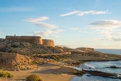 Cabo de Gata coast. A remote beach on Cabo de Gata coast Royalty Free Stock Photos
