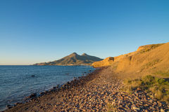 Cabo de Gata coast at sunrise Stock Image