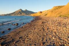 Cabo de Gata coast at sunrise Stock Photos