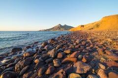 Cabo de Gata coast at sunrise royalty free stock photo
