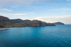 Cabo de Gata kustlinje Royaltyfri Bild