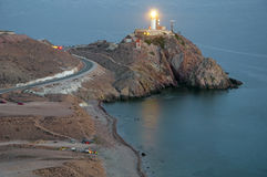 Cabo de gata lighthouse Stock Photos