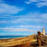 Cabo de Gata in San Miguel Beach Salinas church Royalty Free Stock Photography