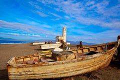 Cabo de Gata in San Miguel Beach Salinas church Royalty Free Stock Photos