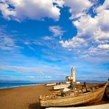 Cabo de Gata in San Miguel Beach Salinas church Stock Photography