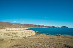 Cabo de Gata. Scenic volcanic coastline on Cabo de Gata, Andalusia, Spain royalty free stock images