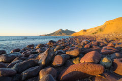 Cabo de Gata shore at sunrise Stock Photography