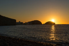 Cabo de Gata sunrise Royalty Free Stock Photo