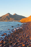 Cabo de Gata sunset Stock Photography