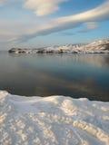 Cabo de Hadarta en el lago Baikal Fotos de archivo libres de regalías
