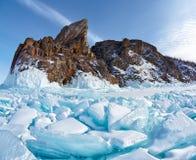 Cabo de Hoboi en el lago Baikal fotografía de archivo