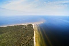Cabo de Kolka, mar Báltico, Letónia fotos de stock