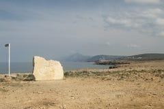 Cabo de Kormakitis, Chipre septentrional Fotos de archivo libres de regalías