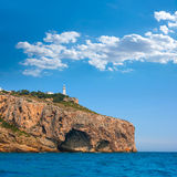 Cabo De La Nao Cape Lighthouse In Mediterranean Sea Alicante Stock Image