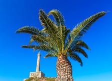 Cabo de Palos fyr Spanien arkivbilder