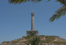 Cabo de Palos Lighthouse στο Λα Manga, Murcia, Ισπανία Στοκ εικόνα με δικαίωμα ελεύθερης χρήσης