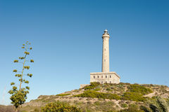 Cabo de Palos lighthouse Royalty Free Stock Photo