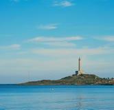 Cabo de Palos lighthouse in La Manga del Mar Menor Stock Images