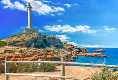 Cabo de Palos Lighthouse on La Manga, Murcia Stock Photos