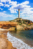 Cabo de Palos Lighthouse on La Manga, Murcia Royalty Free Stock Photos