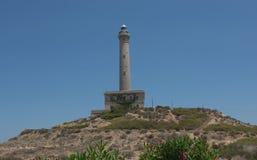 Cabo de Palos Lighthouse sulla manga della La, Murcia, Spagna Fotografia Stock Libera da Diritti