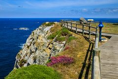 Cabo de Peñas, Espanha das Astúrias foto de stock royalty free