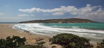 Cabo de Prasonisi en la isla de Rodas Imagen de archivo libre de regalías