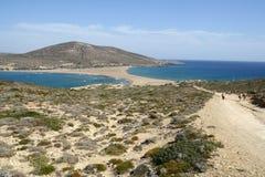 Cabo de Prassonisi en la isla de Rodas Imagen de archivo libre de regalías