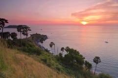 Cabo de Promthep, Phuket Imagens de Stock