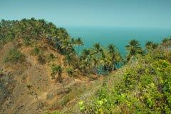 从Cabo De Rama Fort的看法。果阿,印度 免版税库存照片