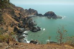 从Cabo De Rama Fort的看法。果阿,印度 免版税库存图片