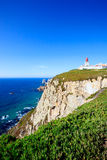 Cabo DE Roca landschap. Portugal. Royalty-vrije Stock Afbeeldingen