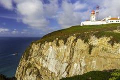 Cabo de roca lighthouse Stock Photography