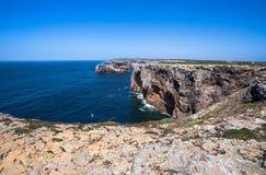 Cabo De São Vincente, Algarve, Portugalia obrazy royalty free