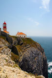 Cabo de São Vicente, Portugal. The Cabo de page ã o Vicente with Sagres in Portugal forms together with the neighbouring Ponta de Sagres the southwest Stock Images