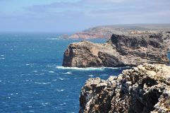 Cabo de S. Vicente. This cape is the southwesternmost point in Portugal Stock Photos