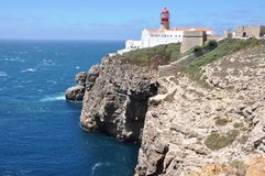 Cabo de S. Vicente. This cape is the southwesternmost point in Portugal Stock Photography