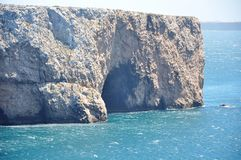 Cabo de S. Vicente. This cape is the southwesternmost point in Portugal Stock Image