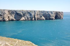 Cabo de S. Vicente. This cape is the southwesternmost point in Portugal Royalty Free Stock Image