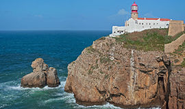 Cabo de S. Vicente, Sagres Photo libre de droits
