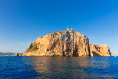 Cabo de San Antonio cape in Javea Denia at Spain Royalty Free Stock Images