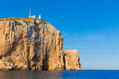 Cabo de San Antonio cape in Javea Denia at Spain Stock Image
