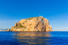 Cabo de San Antonio cape in Javea Denia at Spain Stock Photos