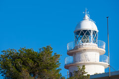 Cabo de San Antonio Cape Lighthouse in Denia Javea of Alicante Royalty Free Stock Images