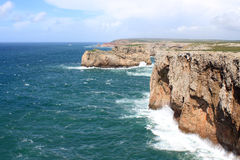 Cabo de Sao Vicente, Algarve, Portugal Royalty Free Stock Photography