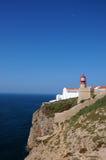 Cabo de Sao Vicente. Lighthouse on the cliffs at Cabo de Sao Vicente, Algarve, Portugal Stock Photography